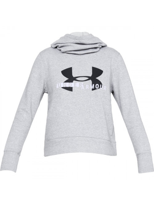 Dámská mikina Under Armour Cotton Fleece Sportstyle Logo Hoodie šedá