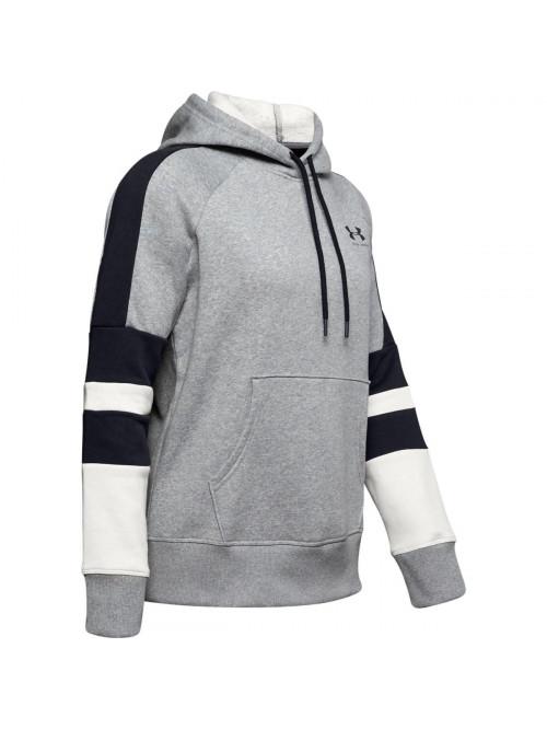 Dámská mikina Under Armour Rival Fleece Logo Hoodie šedá