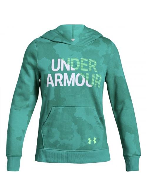 Dívčí mikina Under Armour Rival Hoody zelená
