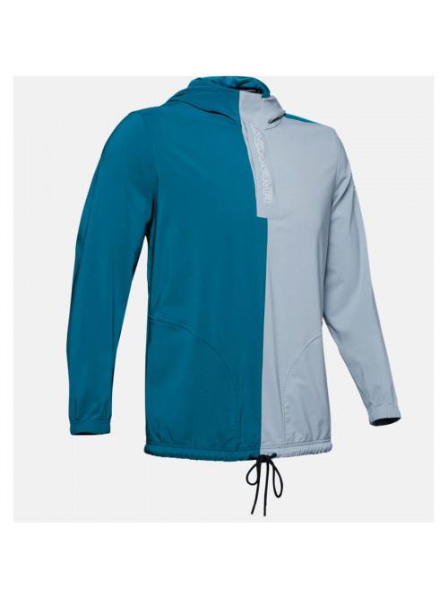 Pánská bunda Under Armour Baseline Woven Jacket šedo-modrá