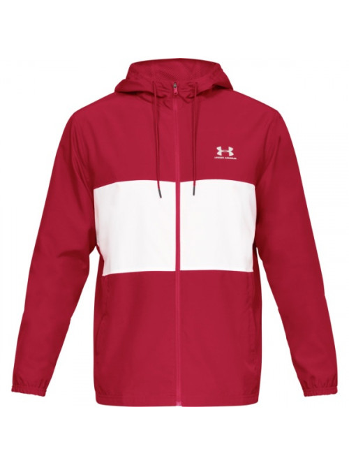 Pánská bunda Under Armour Sportstyle Wind Jacket červeno-bílá
