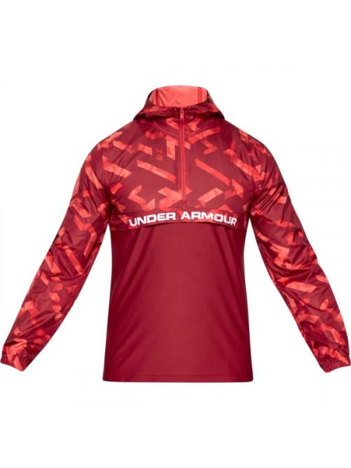 Pánská bunda Under Armour Sportstyle Woven Layer červená
