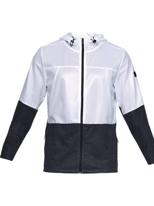 Pánská bunda Under Armour Ustoppable Swacket černo-bílá