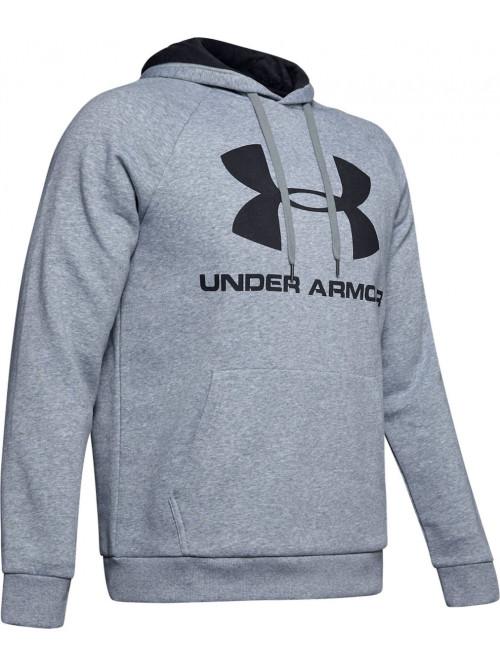 Pánská mikina Under Armour Rival Fleece Big Logo sivá šedá