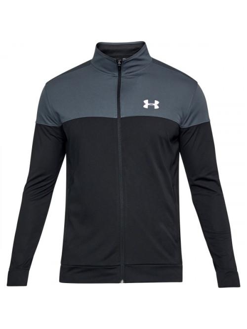 Pánská mikina Under Armour Sportstyle Pique Jacket černo-šedá