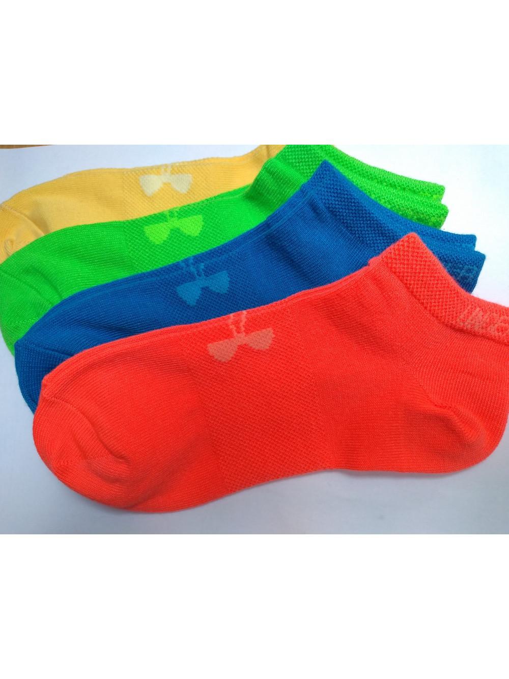 Kotníkové dámské ponožky Under Armour nízké 4pack- zelené, oranžové,modré, žltué