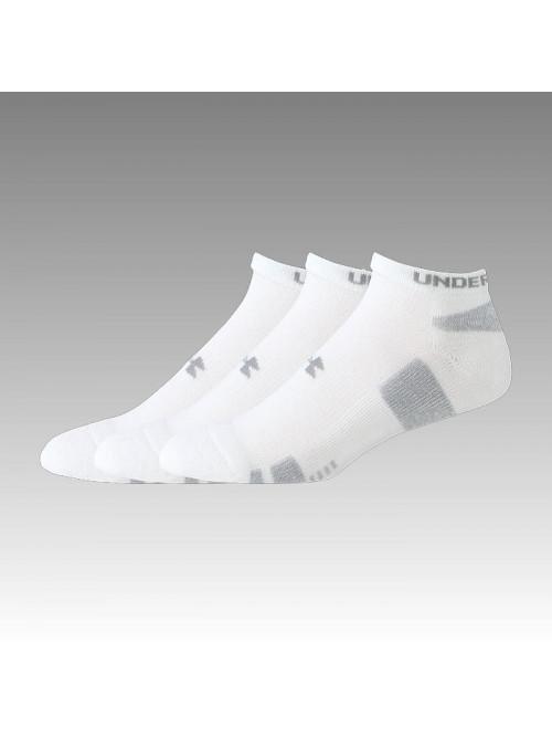 Pánské ponožky Under Armour HeatGear nízke bílé 3 páry