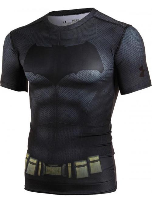 Pánské kompresní tričko Under Armour Batman černé