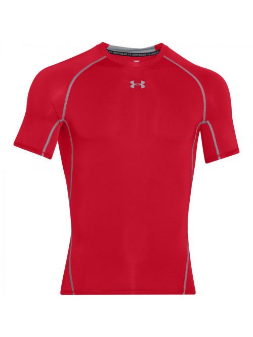 Pánské kompresní tričko Under Armour HeatGear Short Sleeve červené