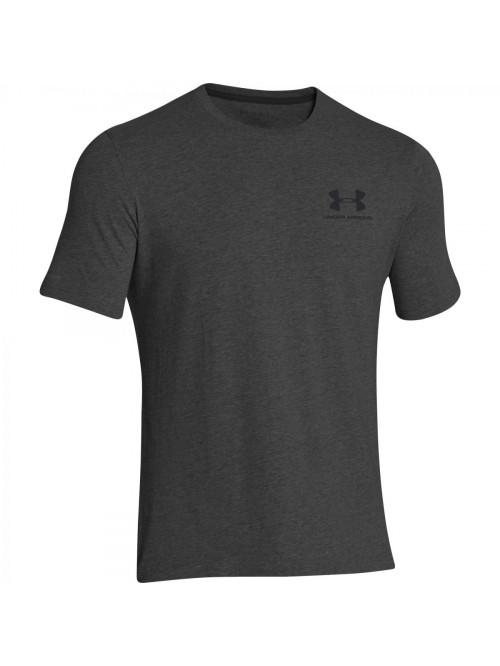 Pánske volní tričko Under Armour Left Chest Logo Tee šedé