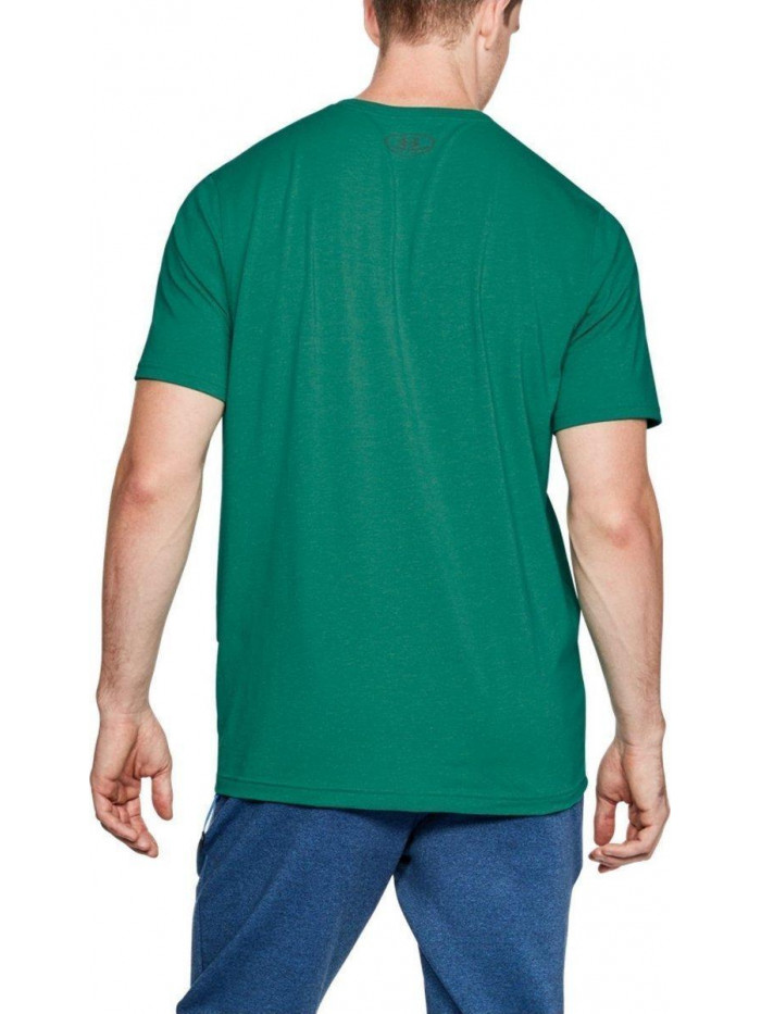 Pánske volní tričko Under Armour Left Chest Logo Tee zelené
