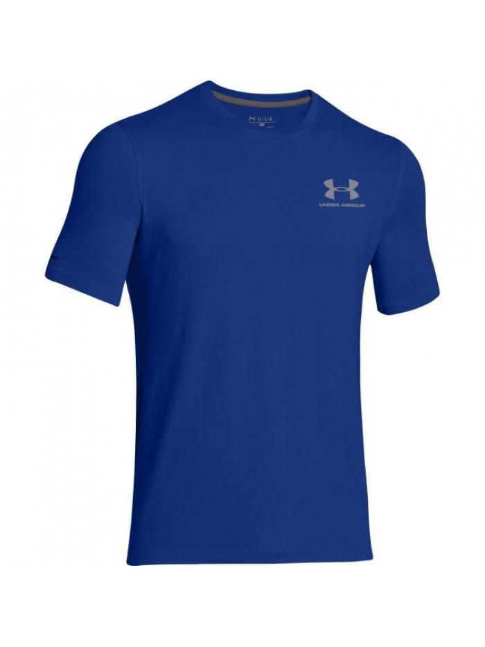 Pánske volní tričko Under Armour Left Chest Logo Tee modré