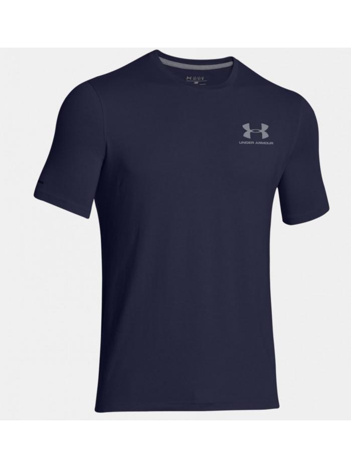 Pánske volní tričko Under Armour Left Chest Logo Tee modro-šedé