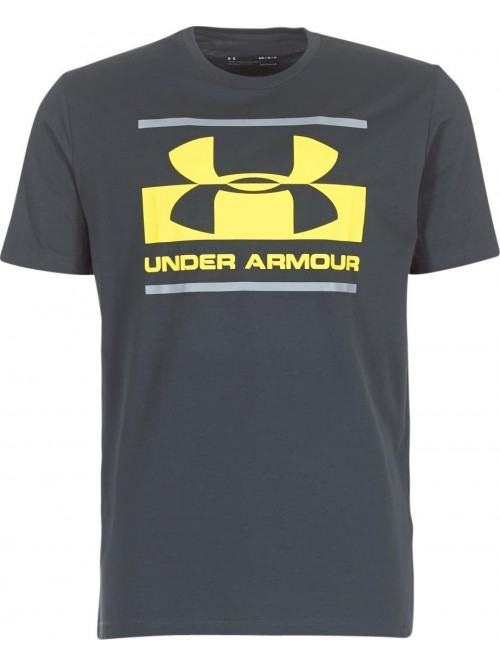 Tričko Under Armour Blocked tmavošedé