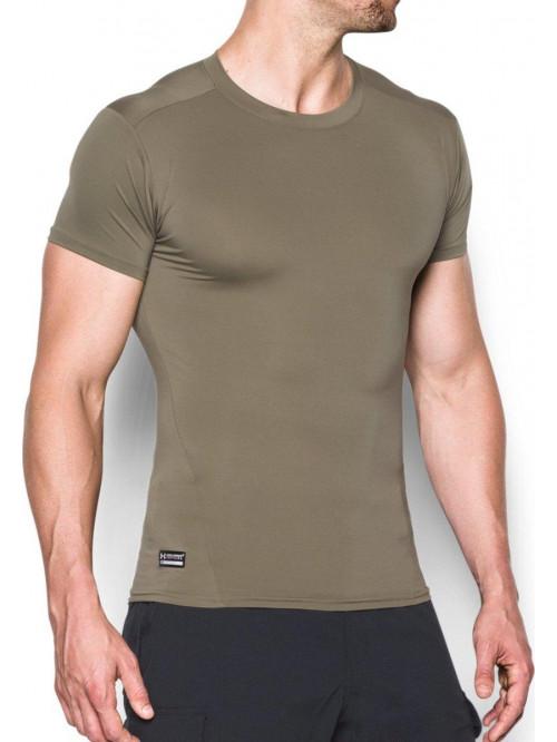 Pánské kompresní tričko Under Armour taktické zelené