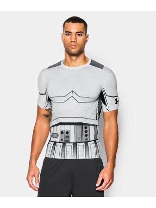 Kompresní tričko Under Armour Trooper bílé