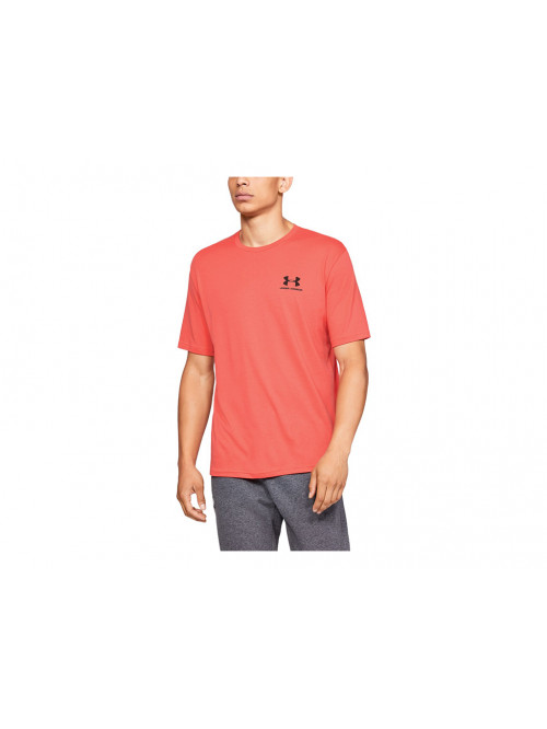 Tričko Under Armour Sportstyle Left Chest oranžové