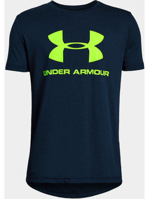 Chlapecké tričko Under Armour Sportstyle Logo modr...