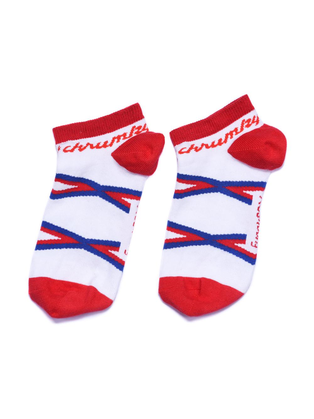 Ponožky Křupky kotníkové Funnysox červené