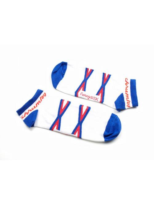 Kotníkové Ponožky Křupky FunnySOX modré