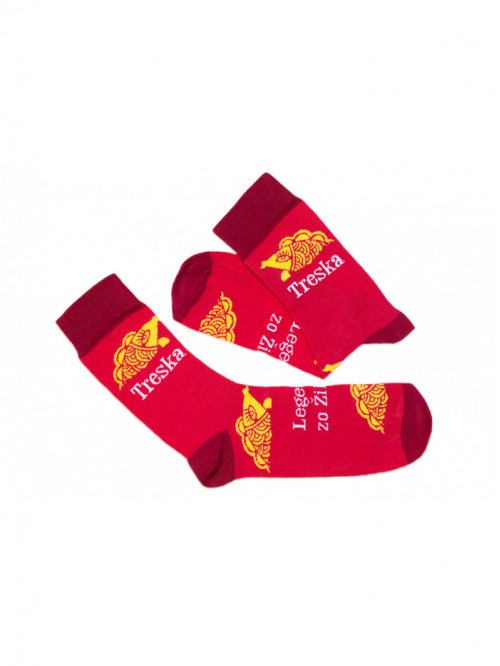 Ponožky Treska Funnysox červené
