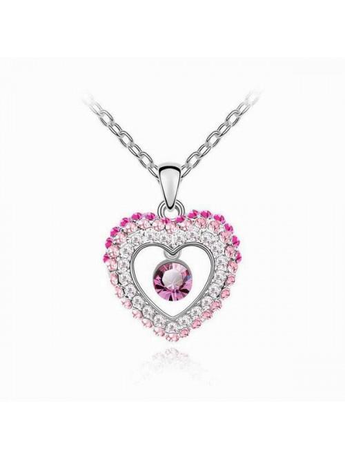 Náhrdelník bijící srdce růžové