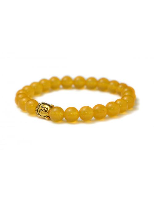 Náramek Buddha Žlutý achát