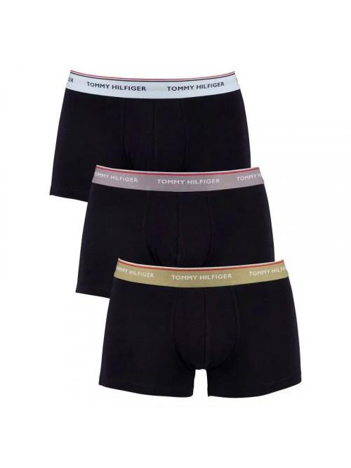 Pánské boxerky Tommy Hilfiger Premium Essentials Tmavěmodrá s barevním pásem 3-pack