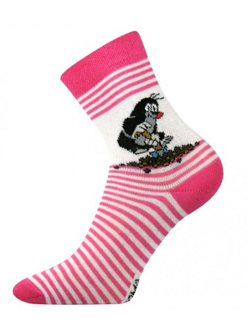 Dětské ponožky Boma Krtek Růžové