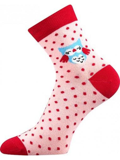 Ponožky Boma Owl Pink