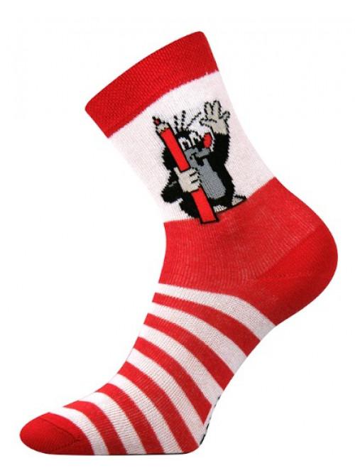 Dětské ponožky Boma Krteček Červené