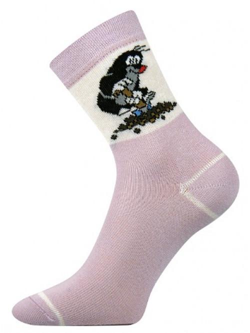 Dětské ponožky Boma Krtek Fialové