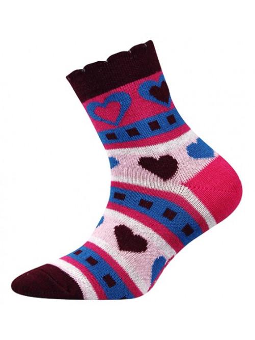 Dětské ponožky Boma Larik Srdíčka