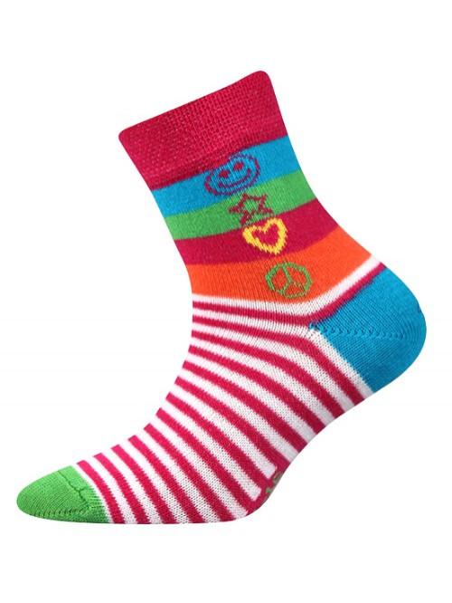 Dětské ponožky Boma Larik Hippies pruhované