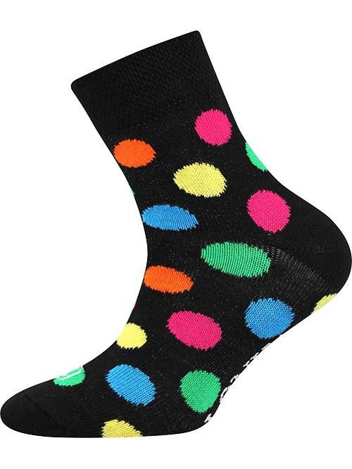 Dětské ponožky Lonka Color Dots Black