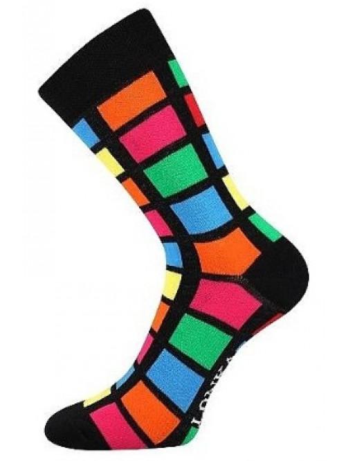 Ponožky Lonka Color Rectangles Black