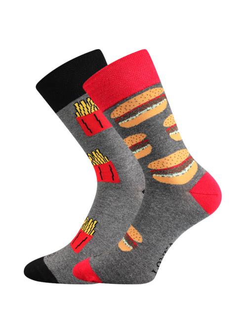 Ponožky Lonka Doble Hamburger s Hranolky