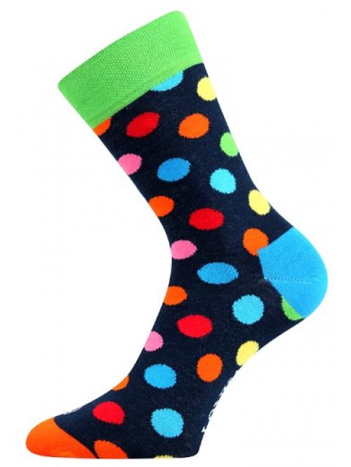 Ponožky Lonka Color Dots Dark Blue
