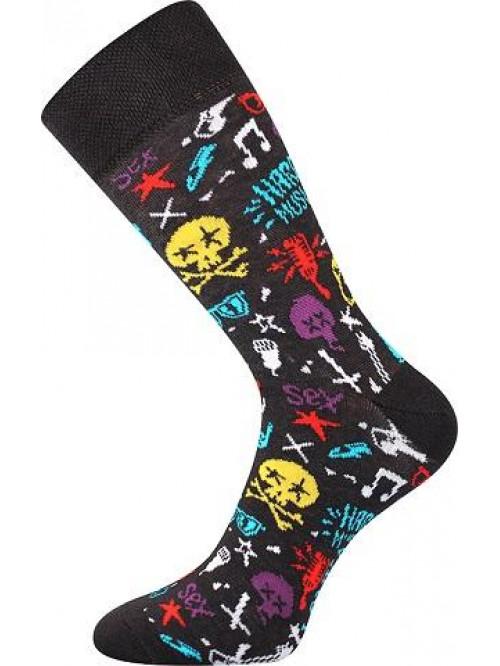 Ponožky Lonka Hard Rock Brown