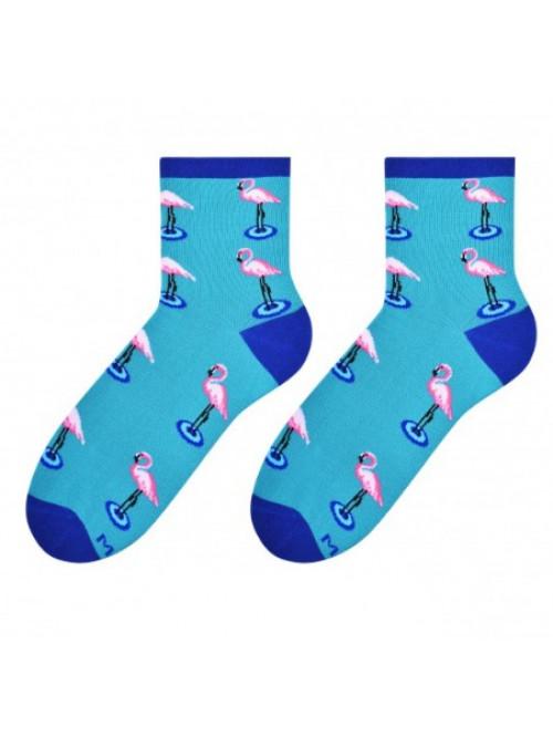 Dámské ponožky Plameňák More - Modré