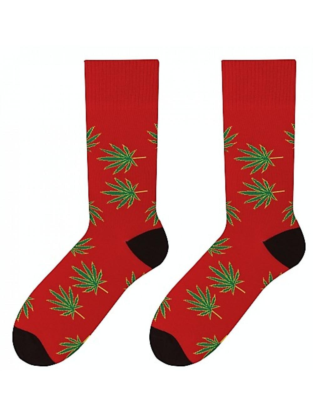61218c4c0 Ponožky Marihuana More červené