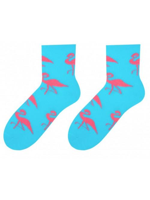Dámské ponožky Plameniak More - Tyrkys