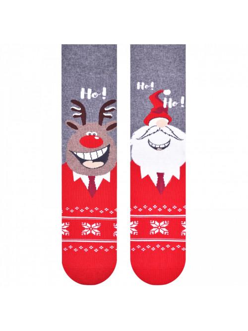 Vánoční ponožky More Sob a Mikuláš šedé