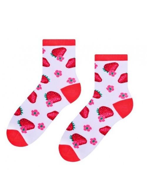 Ponožky Steven Jahoda bílé