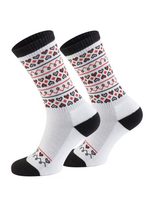 Ponožky Walker's Folk bílo - červené