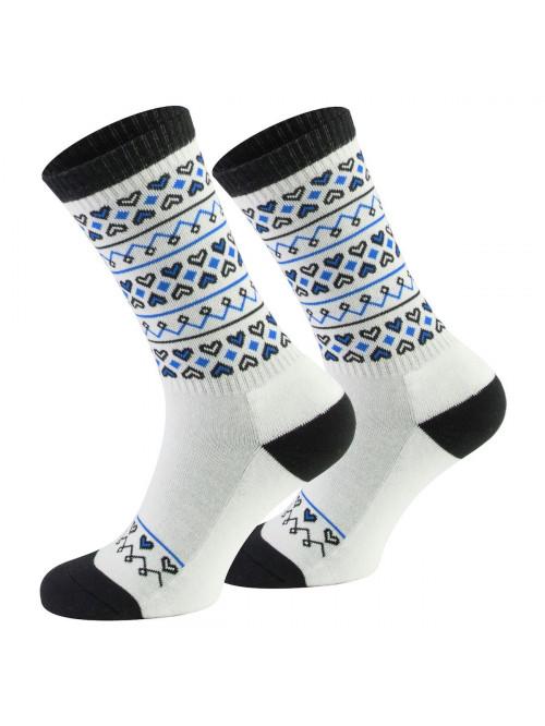 Ponožky Walker's Folk bílo- modré