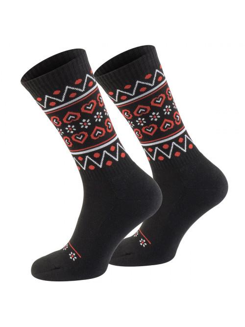 Ponožky Walker's Folk černo-červené