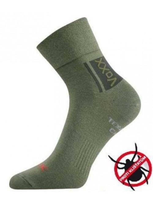 Ponožky VoXX Optifan proti klíšťatům zelené