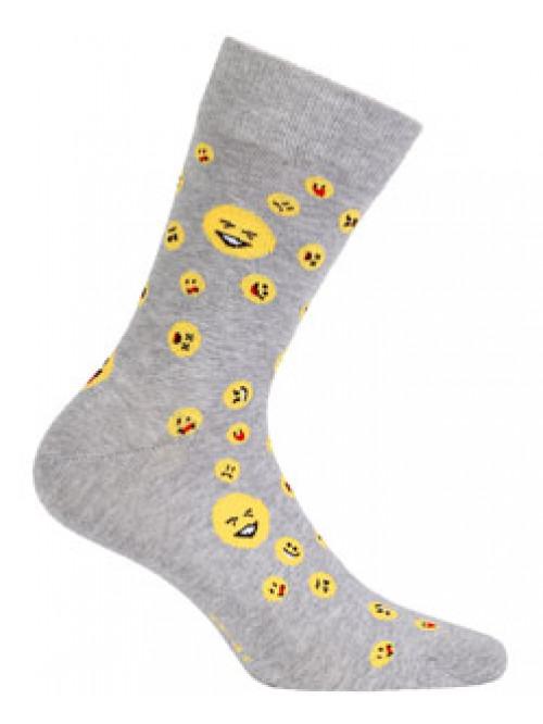 Ponožky Wola Emodži šedé