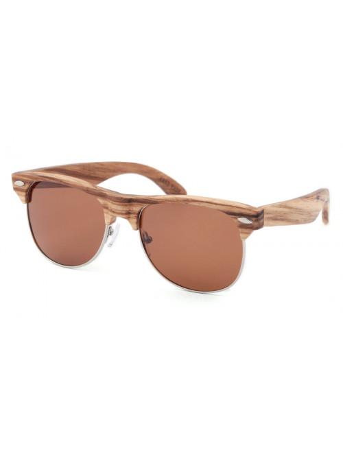 Dřevěné sluneční brýle Clubmaster Classic
